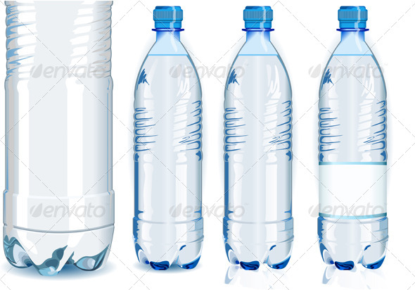 GraphicRiver Plastic Bottles with Generic Label 7652438