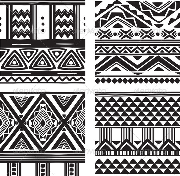 GraphicRiver Set of Tribal Texture 7652980