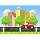 Car Moving Through the City - GraphicRiver Item for Sale