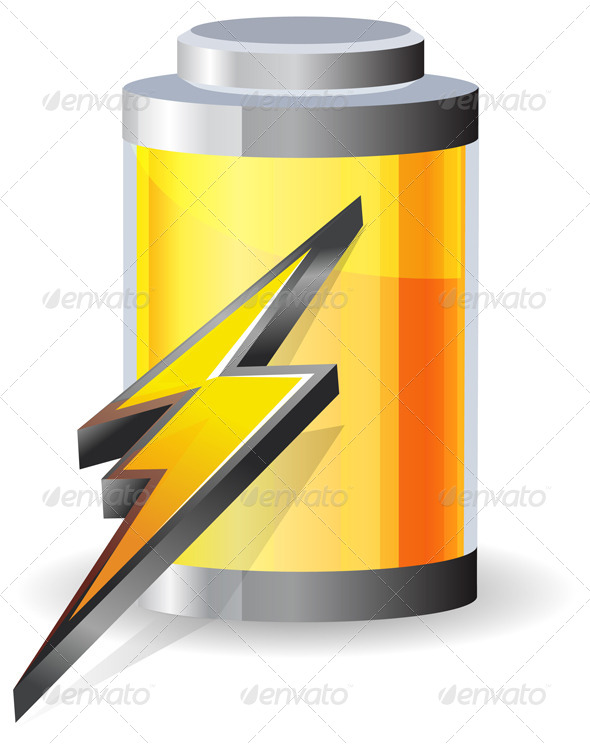 GraphicRiver Battery Charging Icon 7653504