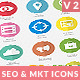 Flat SEO & Marketing Icons Pack 2