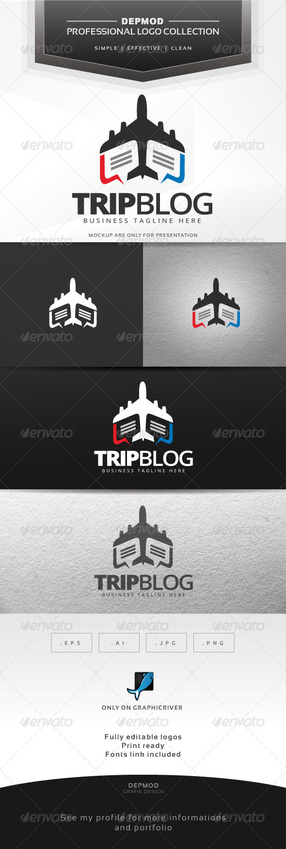 GraphicRiver Trip Blog Logo 7653521