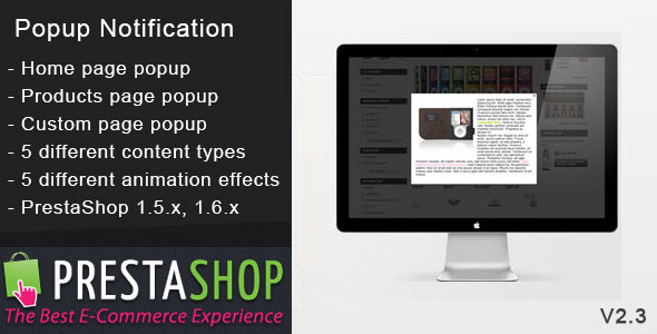Prestashop Popup Notification