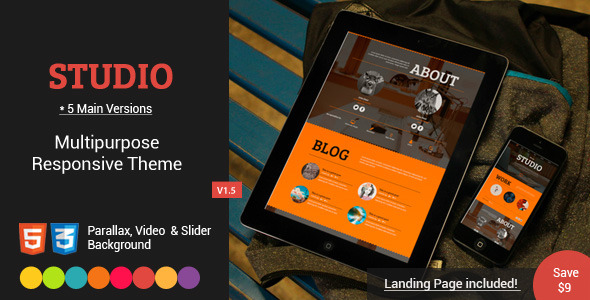 Studio-Multipurpose Video,Parallax,Slider Theme