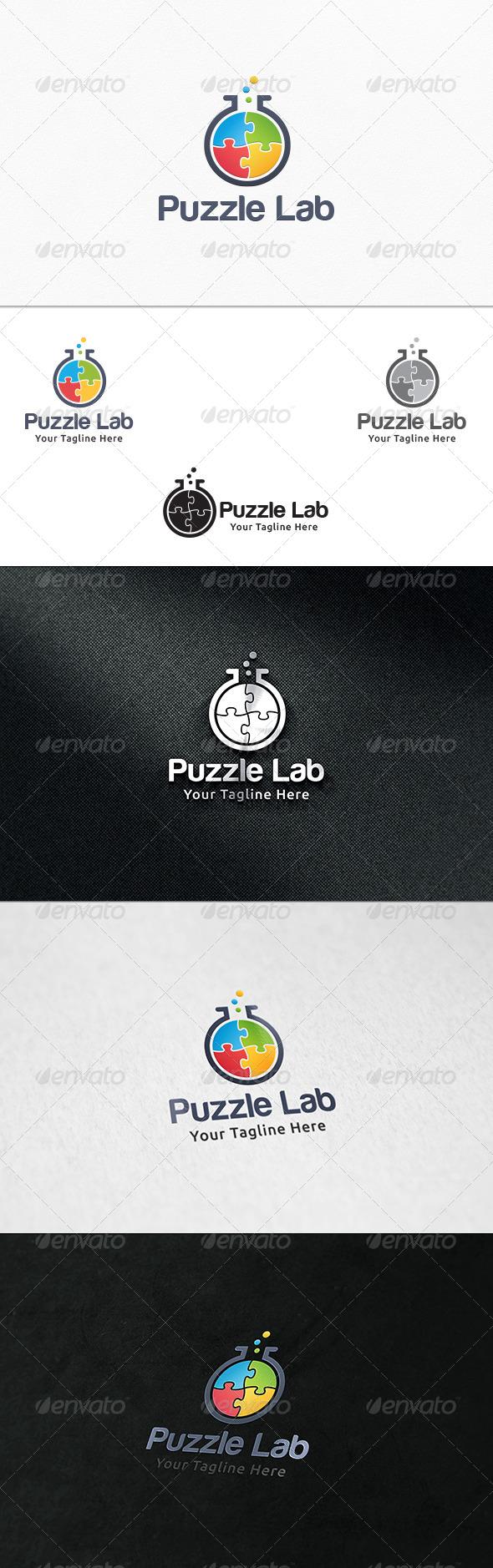 GraphicRiver Puzzle Lab Logo Template 7654025