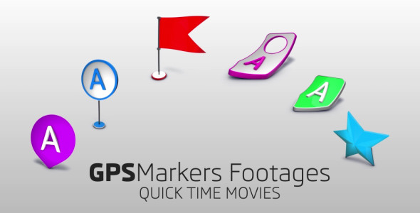 Map Markers Footages