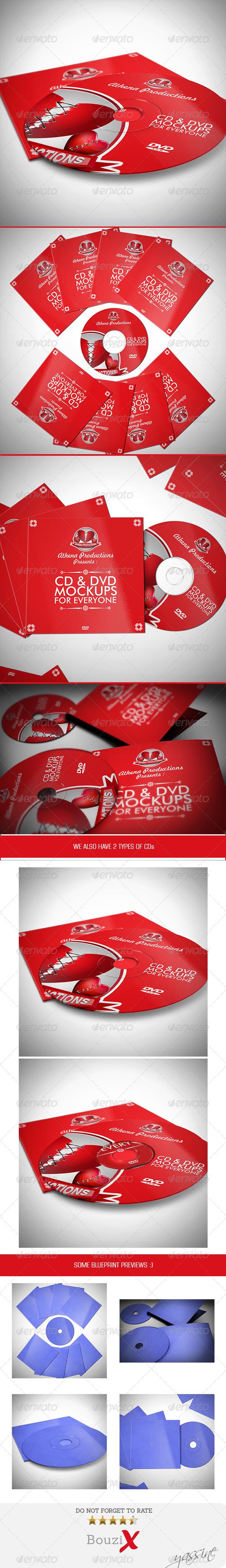 GraphicRiver CD Sleeve & Sticker Mockups 7654072