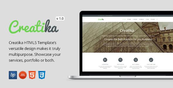 ThemeForest Creatika Responsive Business HTML5 Template 7654859