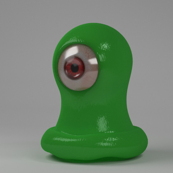 Green One Eyed Monster - 3DOcean Item for Sale