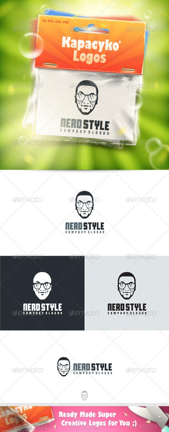 GraphicRiver Nerd Style Logo 7655077