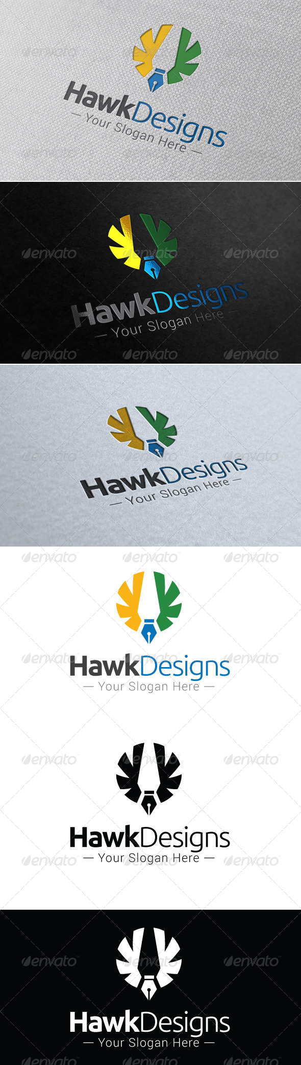 GraphicRiver Hawk Designs Logo Template 7655099