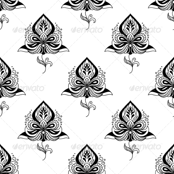 GraphicRiver Persian Paisley Seamless Pattern 7655108
