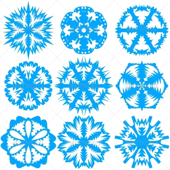 GraphicRiver Set of Snowflakes Vector Illustration 7655110