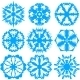 Set of Snowflakes, Vector Illustration. - GraphicRiver Item for Sale