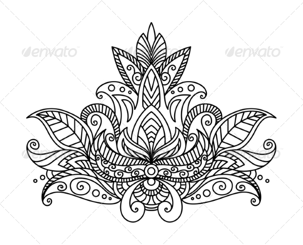 GraphicRiver Persian or Indian Paisley Floral Element 7655335