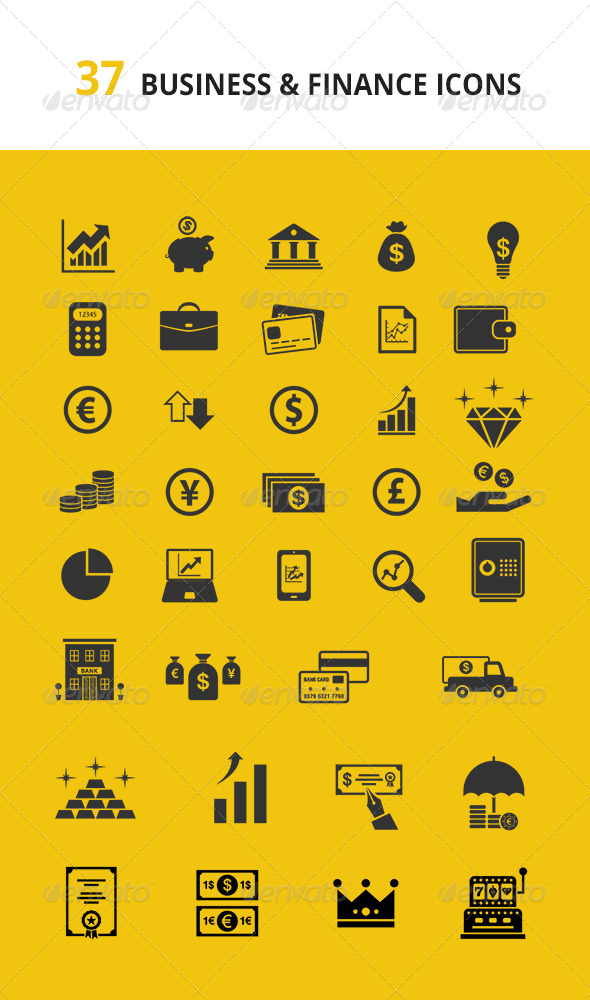 GraphicRiver Fresh Business & Finance Icons Set 7648544
