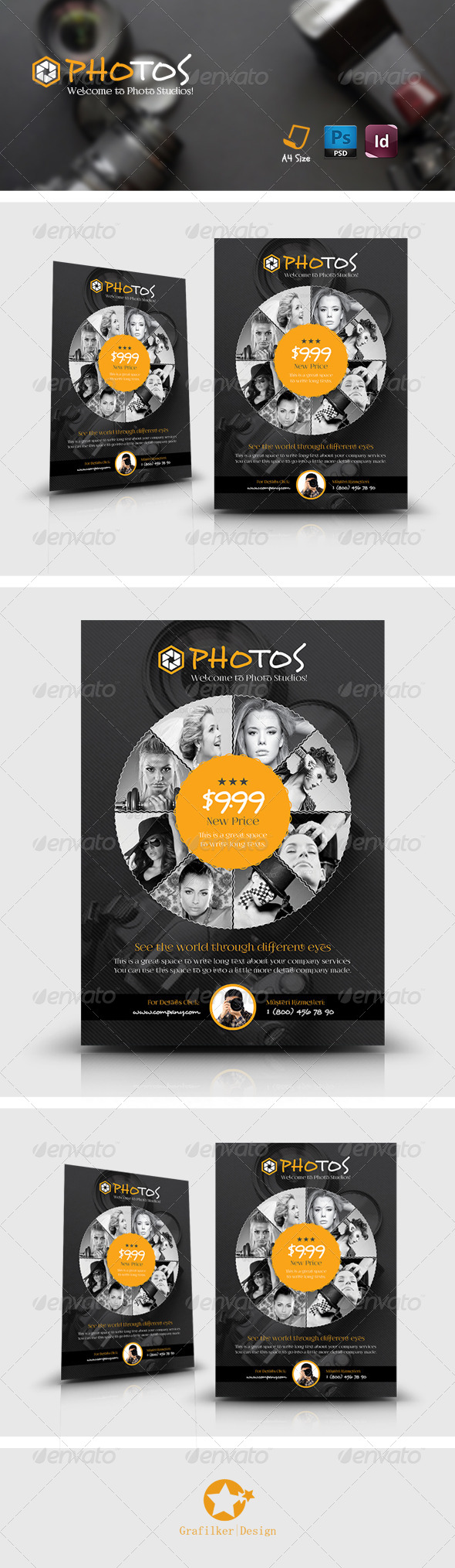 GraphicRiver Photography Flyer Templates 7655555