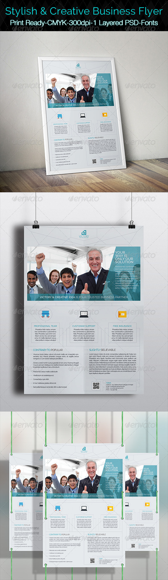 GraphicRiver Stylish & Creative Business Flyer 7652641