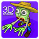 Toon Cowboy Zombie Character