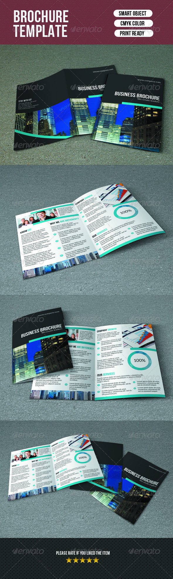 GraphicRiver Bifold Business Brochure 7655690