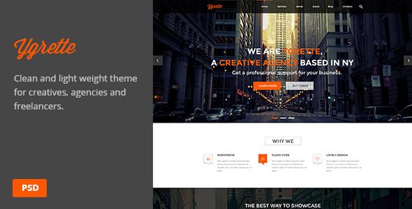 ThemeForest Ygrette Multi-Purpose Parallax PSD Landing Page 7655692