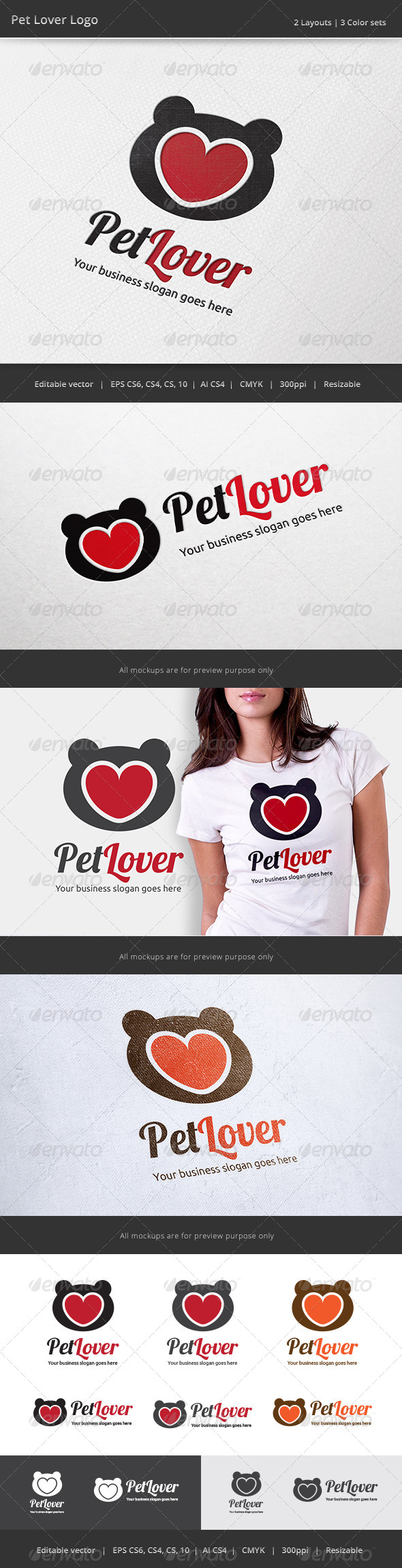 GraphicRiver Pet Love Logo 7655882