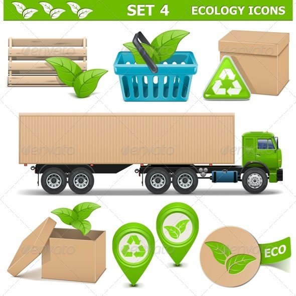 GraphicRiver Vector Ecology Icons Set 4 7655943
