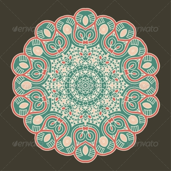 GraphicRiver Vector Round Decorative Design Element 7656300