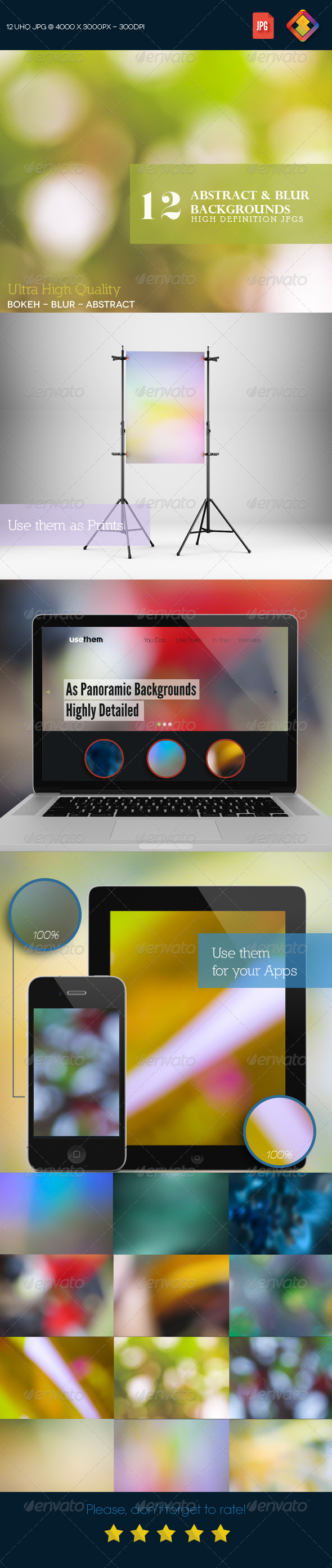GraphicRiver 12HD Abstract & Blur Backgrounds V5 7656628
