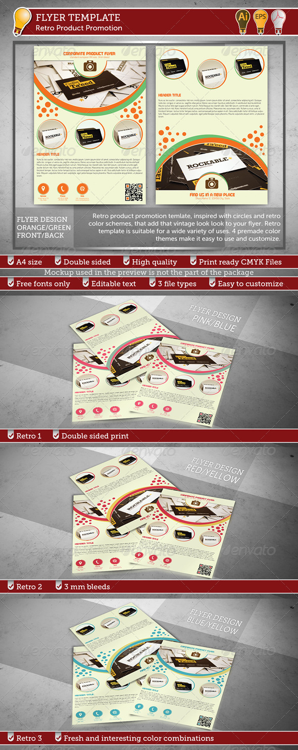 GraphicRiver Retro Product Promotion Flyer 3870523