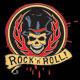 Download Vector Rock N Roll Hotrod Skull