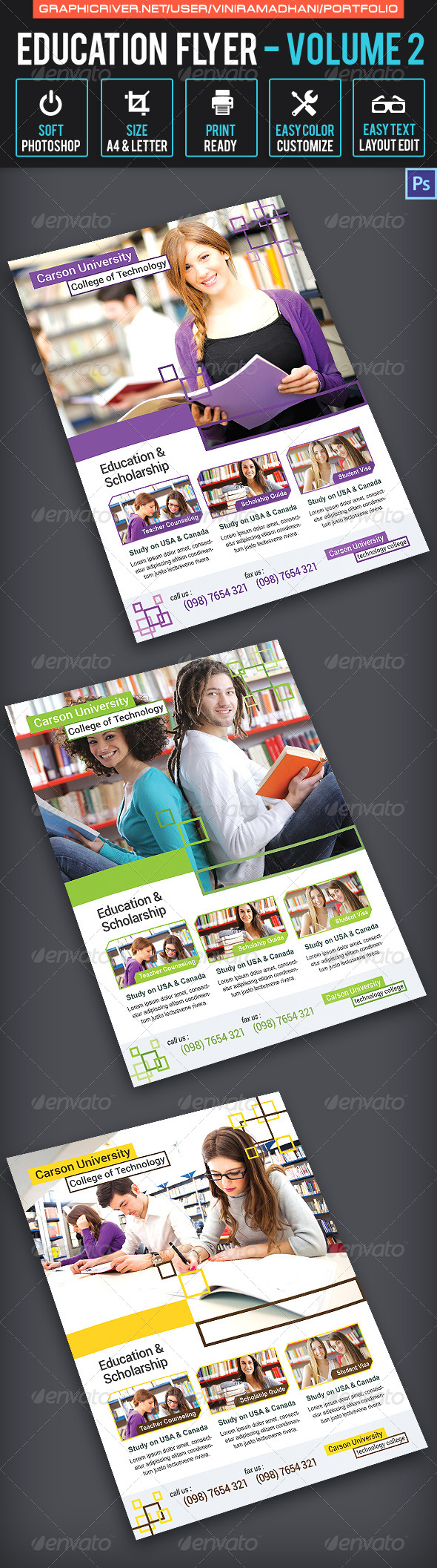 GraphicRiver Education Flyer Volume 2 7658224