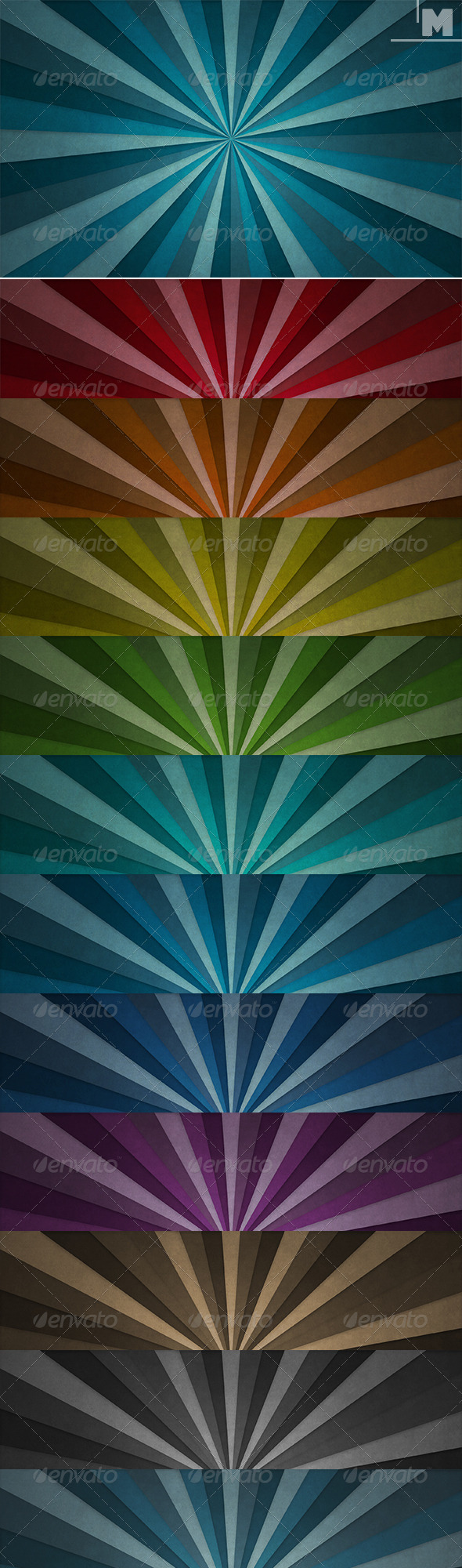 GraphicRiver Rays Backgrounds 7658531