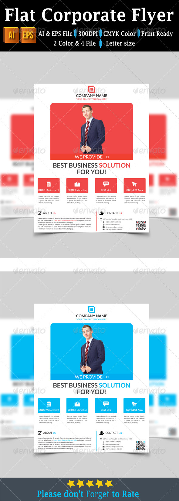 GraphicRiver Flat Corporate Flyer 7658573