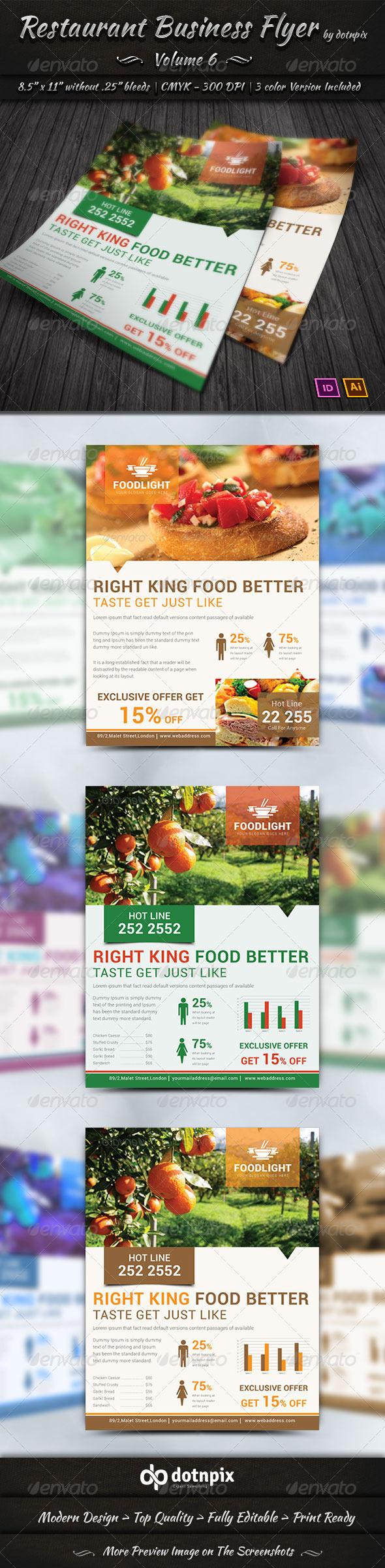 GraphicRiver Restaurant Business Flyer Volume 6 7648592
