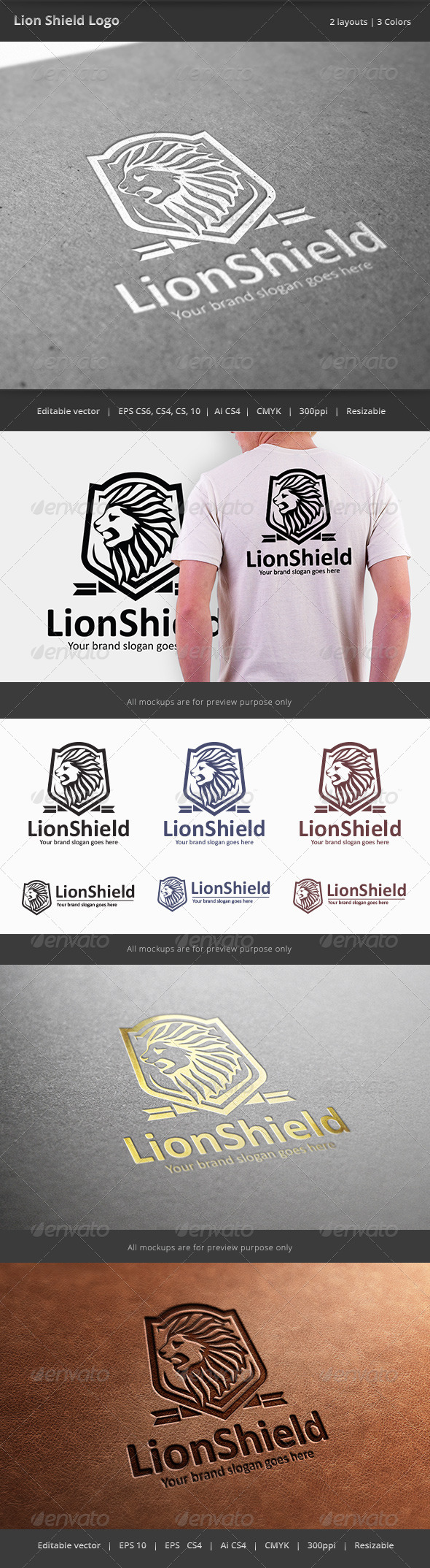 GraphicRiver Lion Shield Logo 7658595