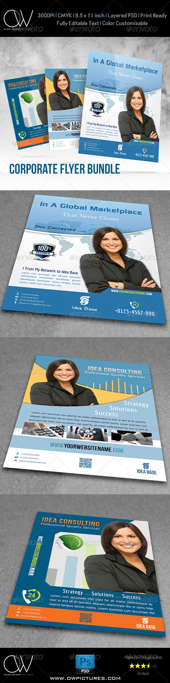 GraphicRiver Corporate Flyer Bundle Template Vol.2 7658611