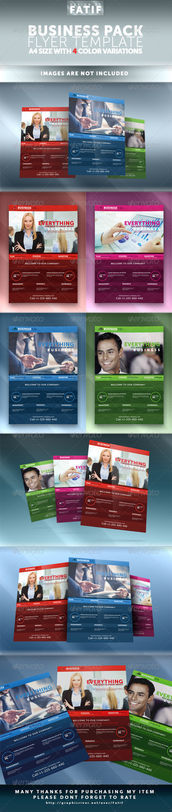 GraphicRiver 4 Color Business Flyer Template 7658820