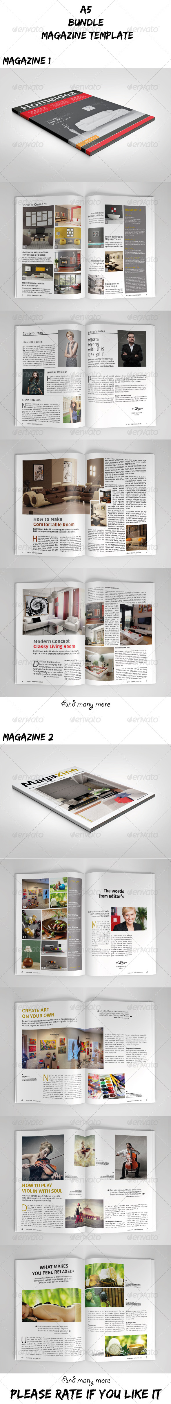 GraphicRiver A5 Magazine Bundle Vol.03 7658855