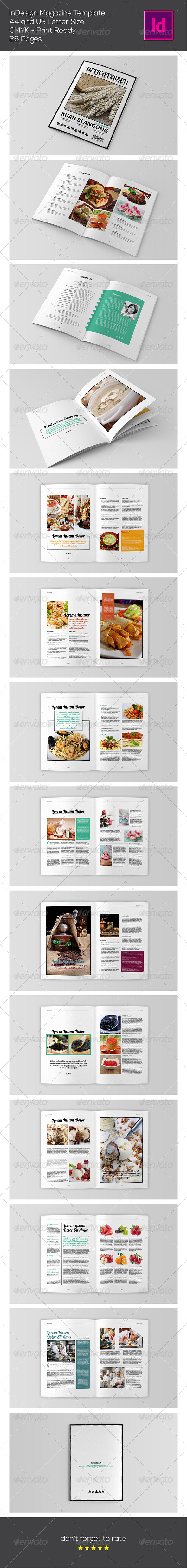 GraphicRiver Food Magazine Template 7658895