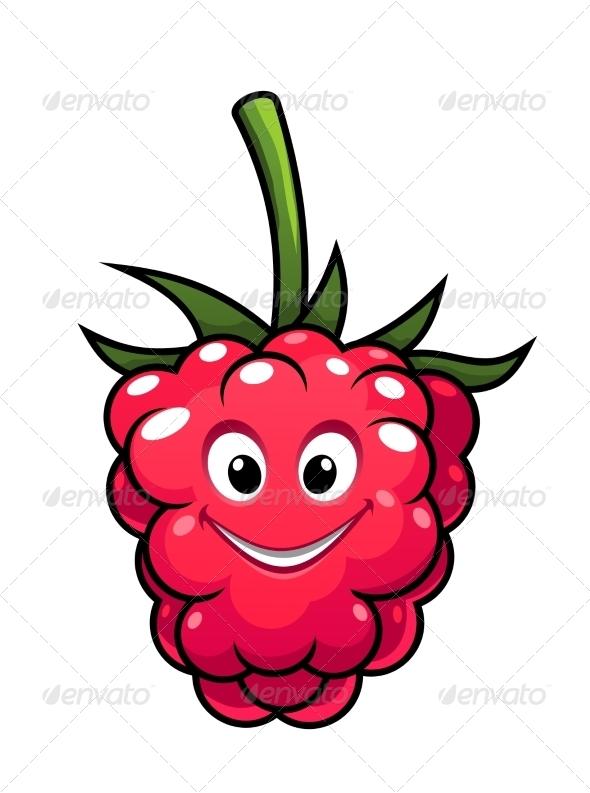 GraphicRiver Happy Cartoon Raspberry 7659113