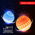 Social Worlds Abstract Background vector - PhotoDune Item for Sale