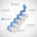 Success Steps Concept Arrow and Staircase Infographic Icons Vector Illustration - PhotoDune Item for Sale