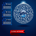 Global network background vector - PhotoDune Item for Sale