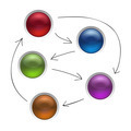 Business Diagram Management Strategy Buttons Isolated Vector Illustration - PhotoDune Item for Sale