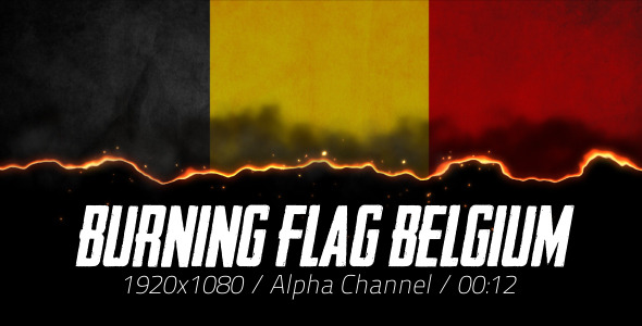Burning Flag Belgium