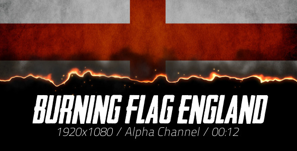 Burning Flag England