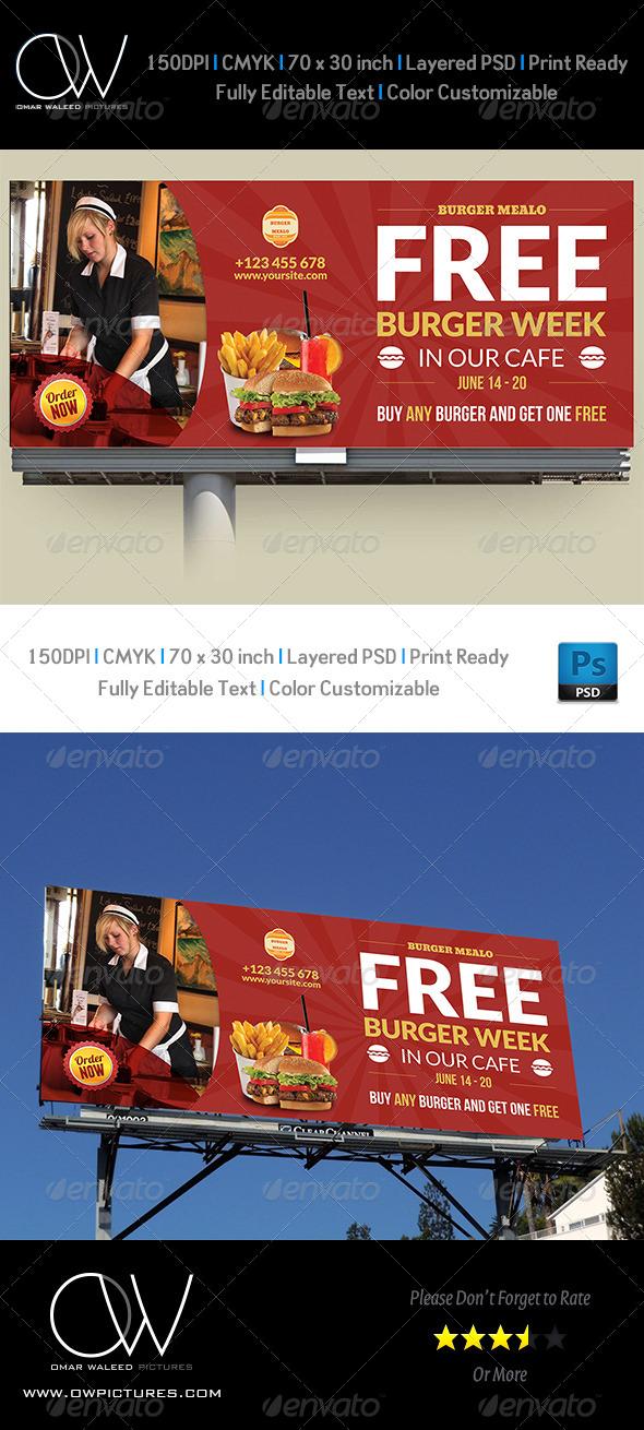 GraphicRiver Burger Restaurant Billboard Template Vol.4 7659602