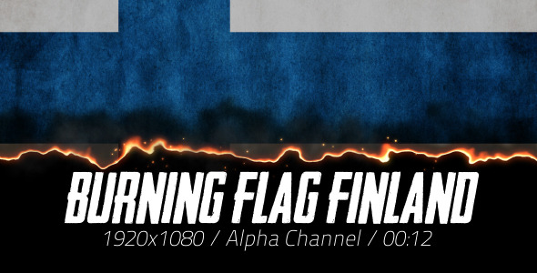 Burning Flag Finland