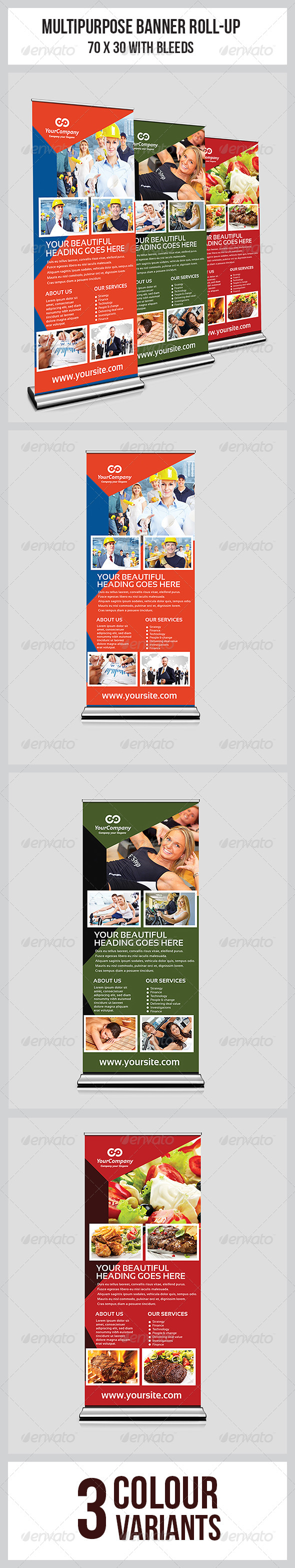 GraphicRiver Multipurpose Business Roll-Up 7659618